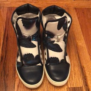 LANVIN HIGH TOP DESIGNER SNEAKERS